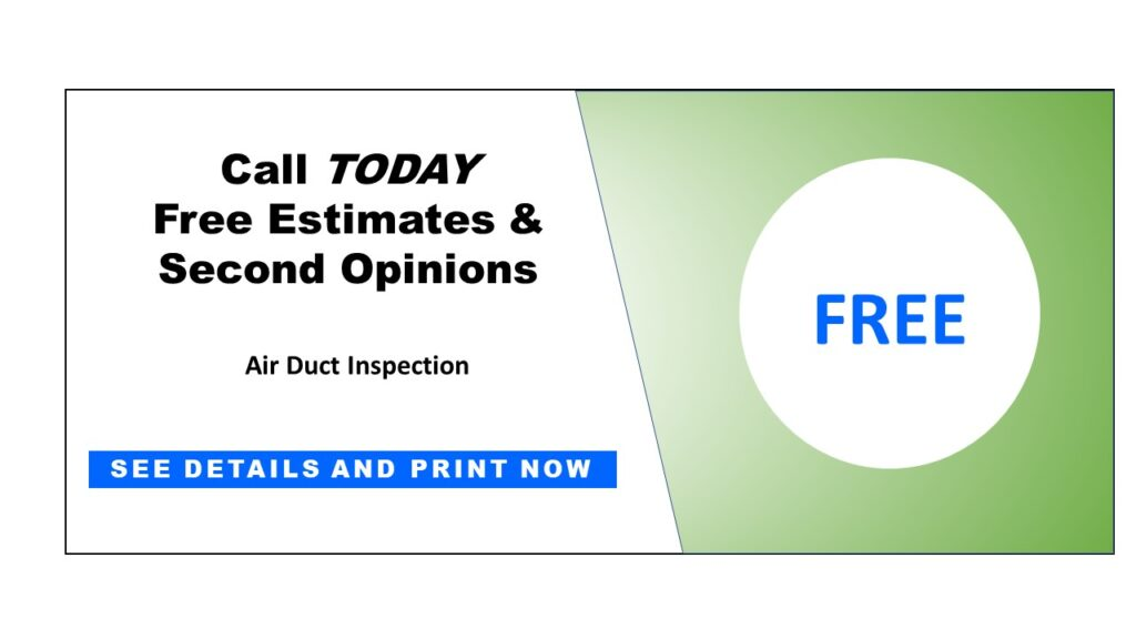 Sized Coupon Free Duct Inspection