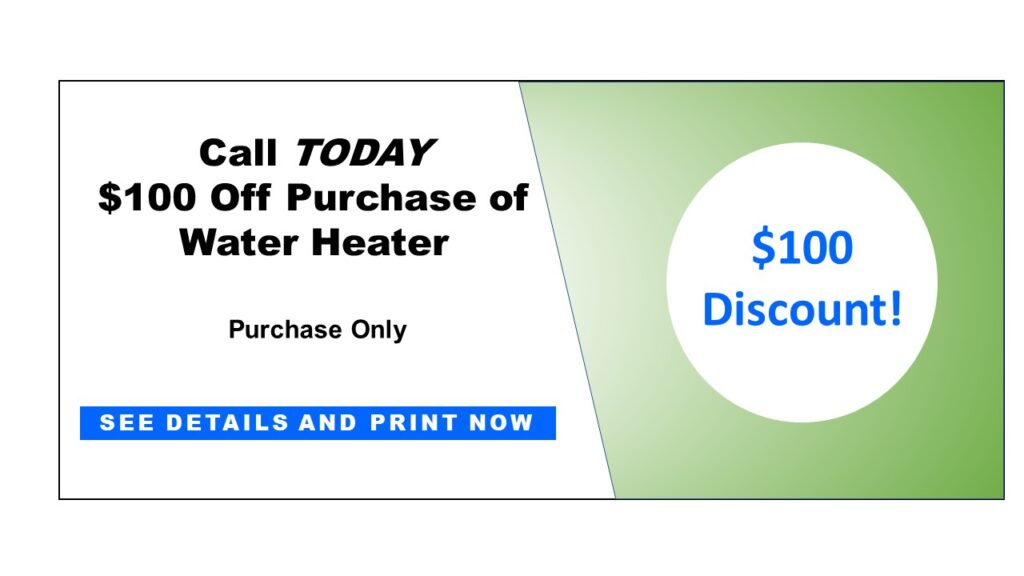 Sized Coupon Water Heater Discount