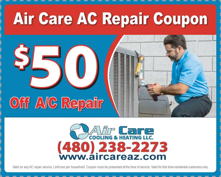 $50 OFF AC Repair Coupon